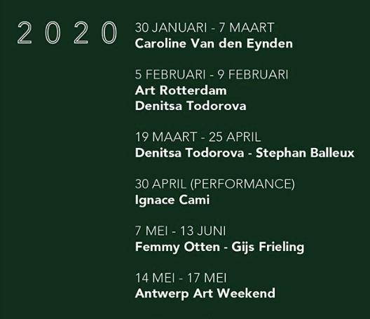 dmw gallery, programme 2020, art exhibitions