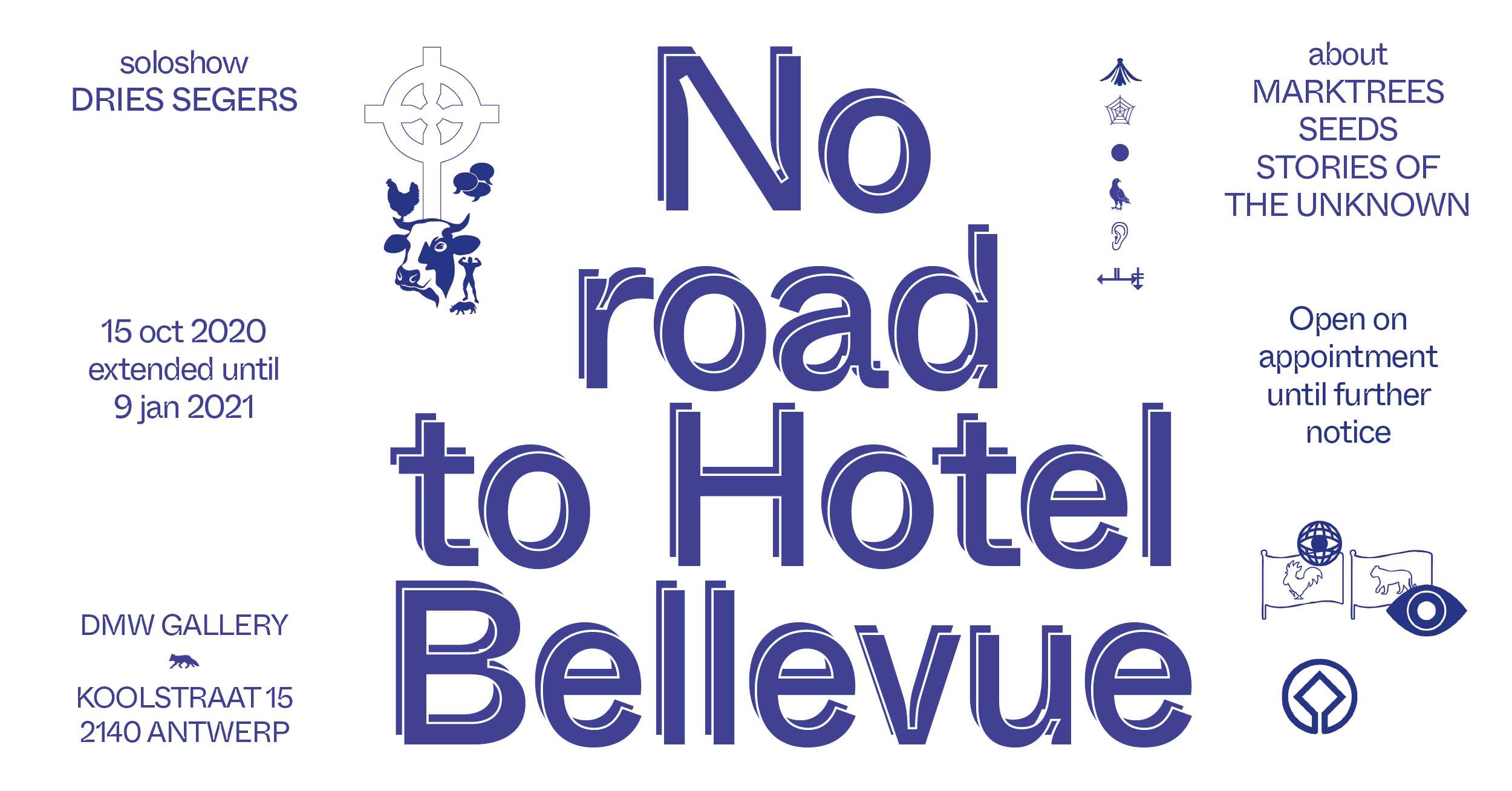 dries segers, dmw gallery, no road to hotel bellevue, photography, exhibition, flyer