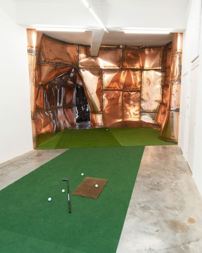 marius ritiu, dmw gallery, is there anybody out there, golf, indoor