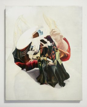 this place displaced, dmw gallery, emilie terlinden, painting, players
