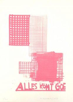 werner mannaers, dmw gallery, alles komt goe, silkscreen print