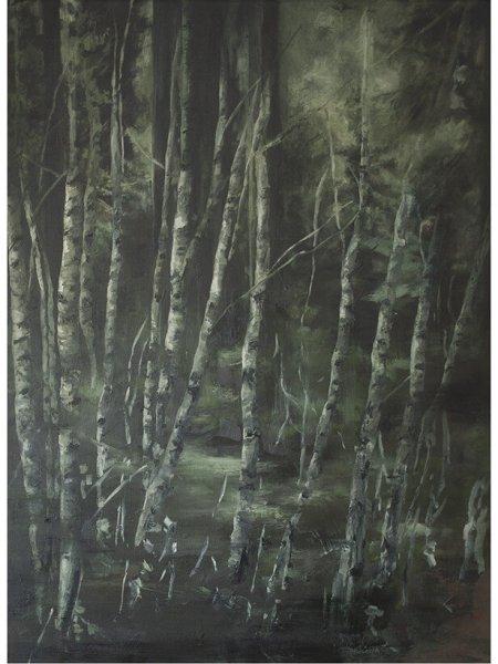 joris vanpoucke, dmw gallery, mare, painting, solo exhibition, forest