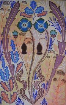 gijs frieling, dmw gallery painting, blauwe klaprozen