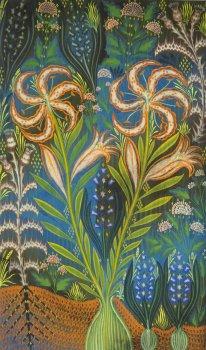 gijs frieling, painting, dmw gallery, twee lelies, hyacinten