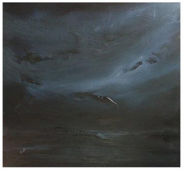 joris vanpoucke, painting, dmw gallery, marine in indigo