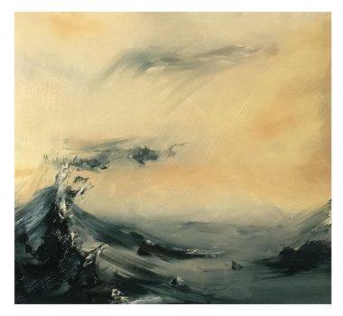 joris vanpoucke, painting, dmw gallery, mountaintop, marine