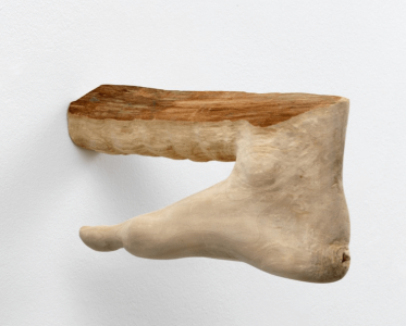 femmy otten, untitled, foot, sculpture, dmw gallery, wood