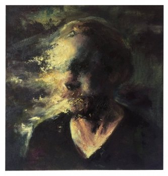 joris vanpoucke, painting, dmw gallery, selfportrait